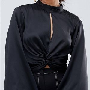 Stunning ASOS black top with full sleeves